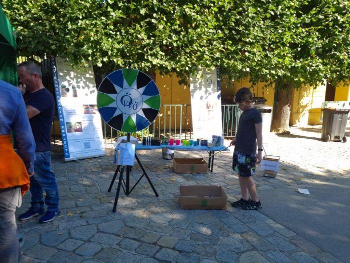 Das ÖVVÖ Glücksrad auf den Artenschutztagen im Zoo Schönbrunn