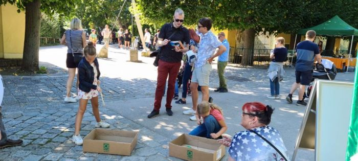 Anglerspiel bei den Artenschutztagen im Zoo Schönbrunn