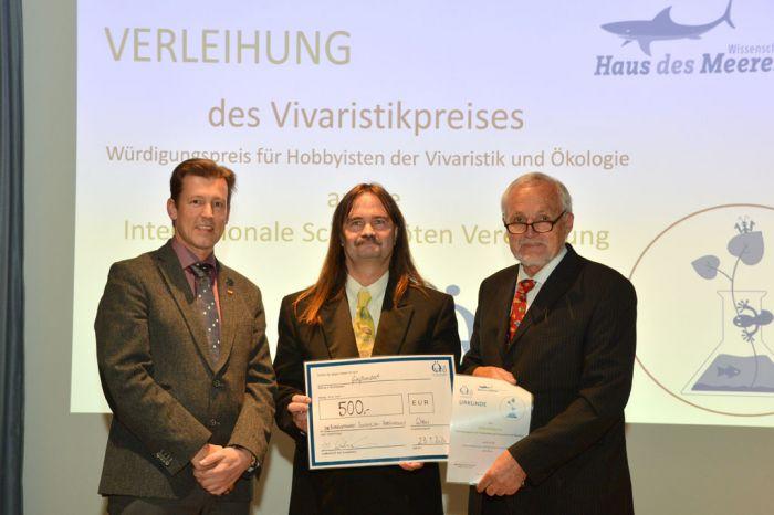 Vivaristik Preis für ISV (v.l.n.r.: A. Schramm, G. Schaffer, W. Hödl)