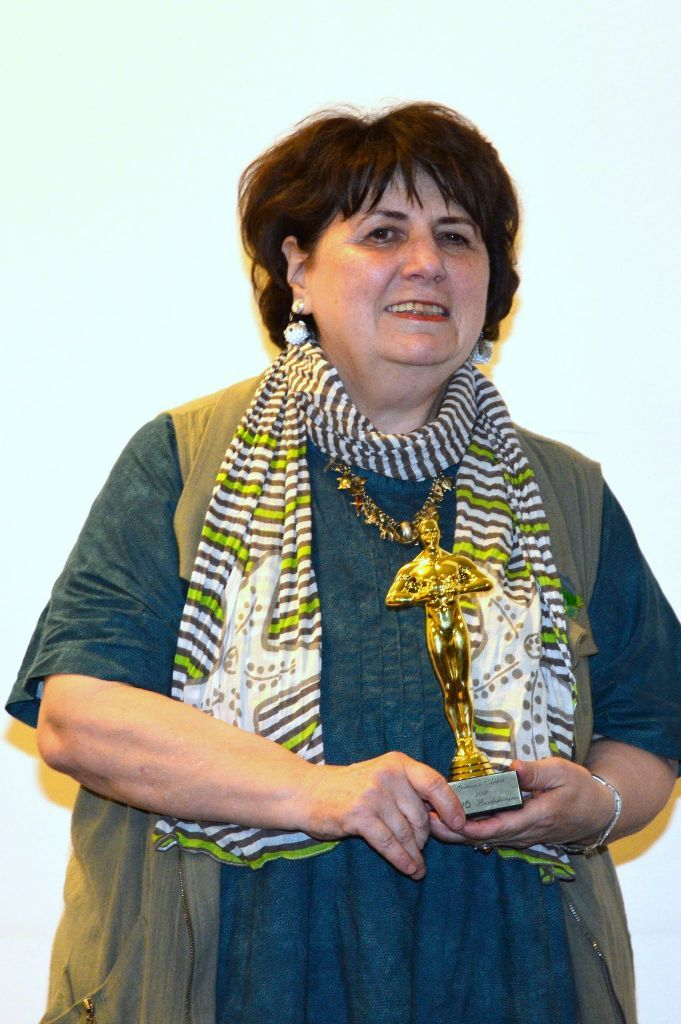 Evelyn Kolar mit dem Goldenen Anton 2016