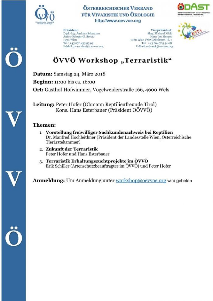 ÖVVÖ Terraristik Workshop