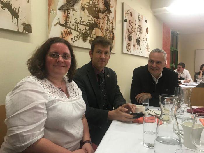 MMag. Barbara Pachner, Medienreferentin, DI Andreas Schramm, Präsident und Direktor Ing. Rudolf Reisenberger