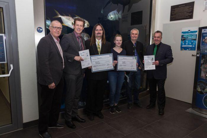 Die Gewinner der Vivaristkpreise 2020 (v.l.n.r.: G. Gabler, A. Schramm, G. Schaffer, M. Schwayer, Dir. R. Reisenberger, S. Roehl)