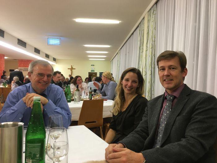 Ing. Andreas Huschka, Vizepräsident des ÖDAST und DI Andreas Schramm im Gespräch mit Lehrern der LFS Hollabrunn