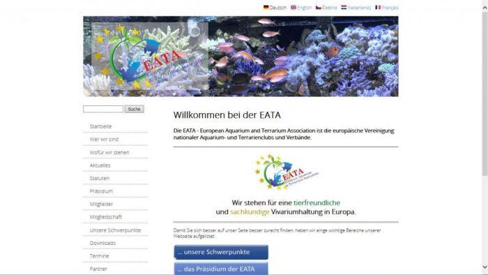Neue Homepage der EATA - www.eata-online.org