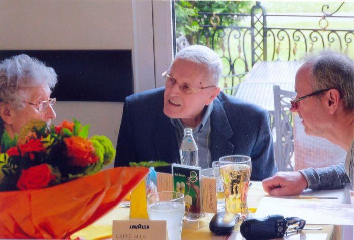 2015 - 90er Geburtstag von Prof.Otto Gartner, gemeinsam mit seiner Frau und Dr. Anton Lamboj