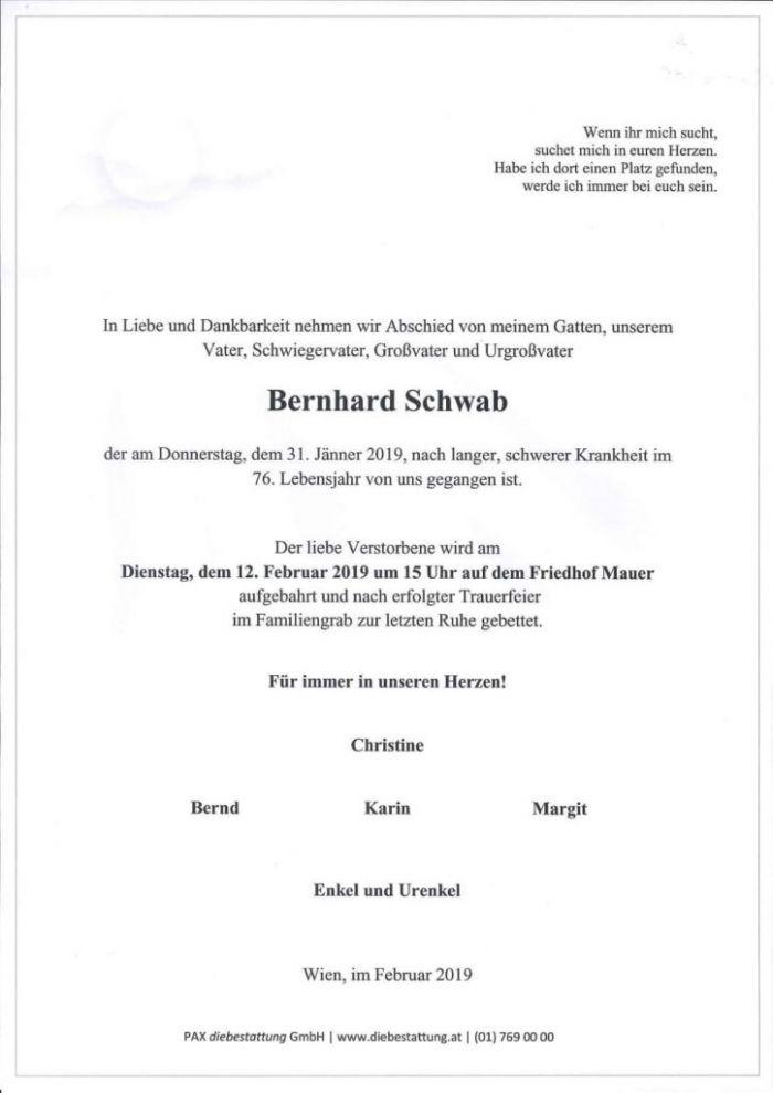Parte Bernhard Schwab