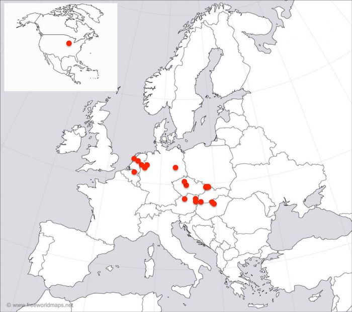 Map of XNP members